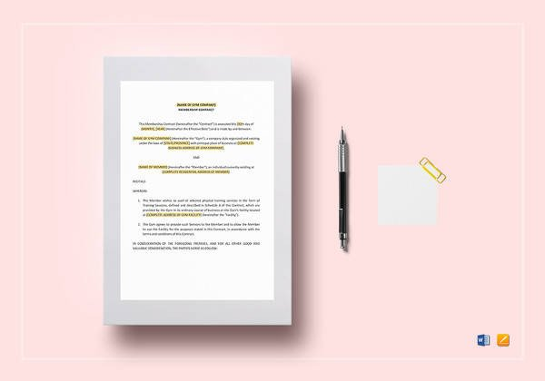 Contract Template Google Docs 10 Training Contract Samples & Templates Pdf Google