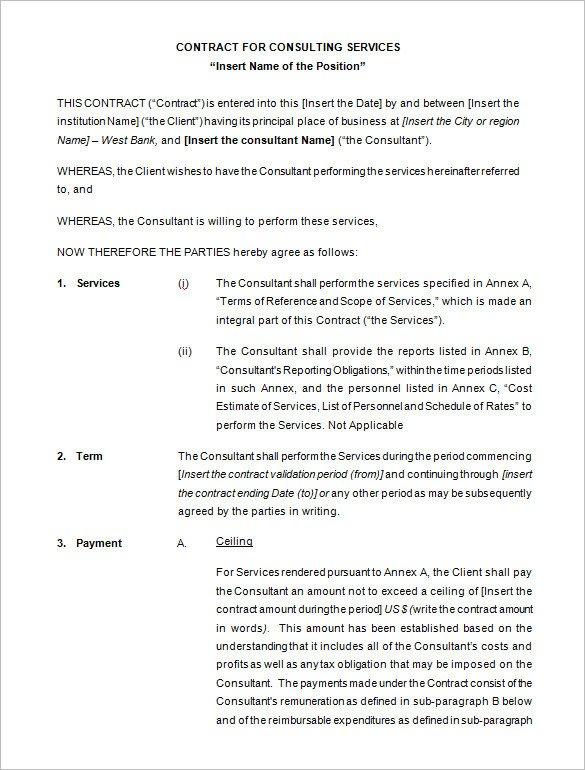 Contract Template Google Docs Contract Template Google Docs