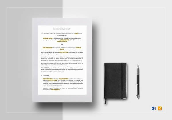 Contract Template Google Docs Mission Contract Template 12 Download Free Documents