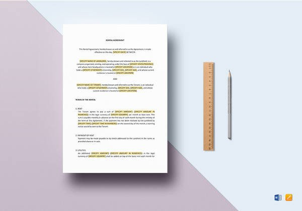 Contract Template Google Docs Sample House Rental Agreement 19 Examples In Pdf Word