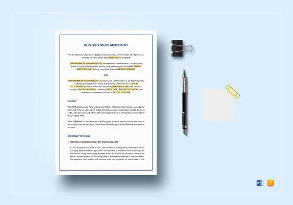Contract Template Google Docs Sample Subcontractor Agreement 17 Free Documents