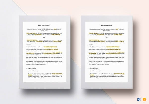 Contract Template Google Docs Service Contract Template 19 Download Free Documents In