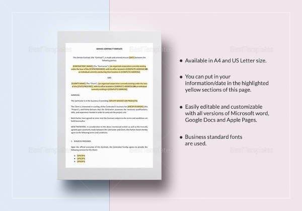 Contract Template Google Docs Simple Contract Template 21 Download Free Documents In