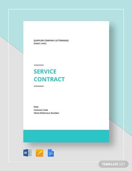 Contract Template Google Docs Simple Service Contract Sample 19 Examples In Word Pdf