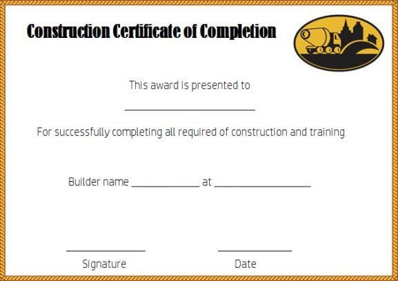 Contractor Certificate Of Completion Templates Best 25 Certificate Of Pletion Template Ideas On