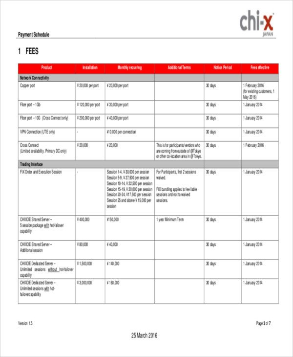 Contractor Payment Schedule Template 17 Contract Payment Schedule Templates Sample Example