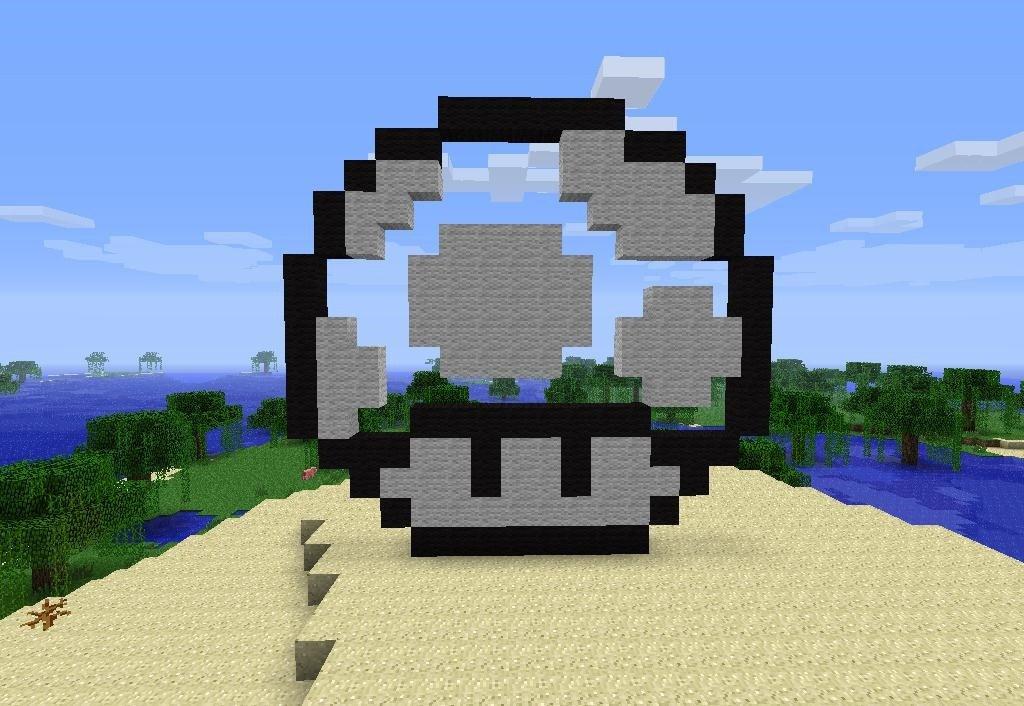 Cool Minecraft Pixel Arts How to Make Pixel Art In Minecraft Minecraft Wonderhowto