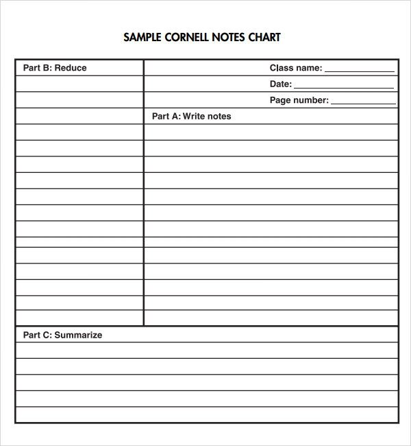 Cornell Notes Template Download Cornell Note Template 15 Download Free Documents In Pdf
