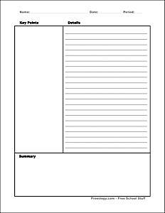 Cornell Notes Template Word Cornell Notes Template Freeology