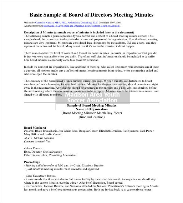 Corporate Minutes Template Word 26 Minutes Templates Word Excel Pdf