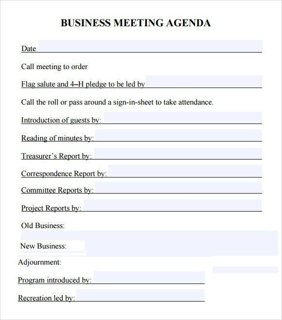 Corporate Minutes Template Word Business Meeting Agenda Template 5 Download Free
