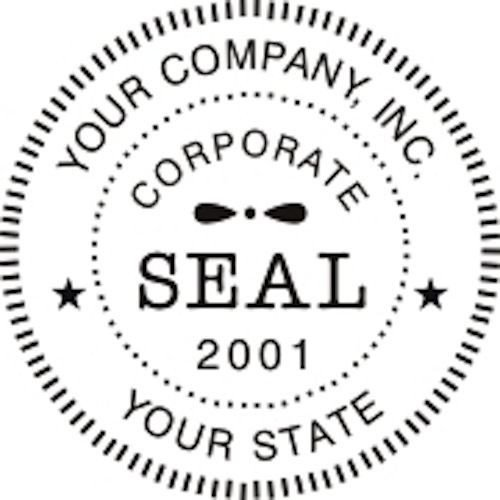 Corporate Seal Template Word Self Inking Round Corporate Business Pany Logo Seal