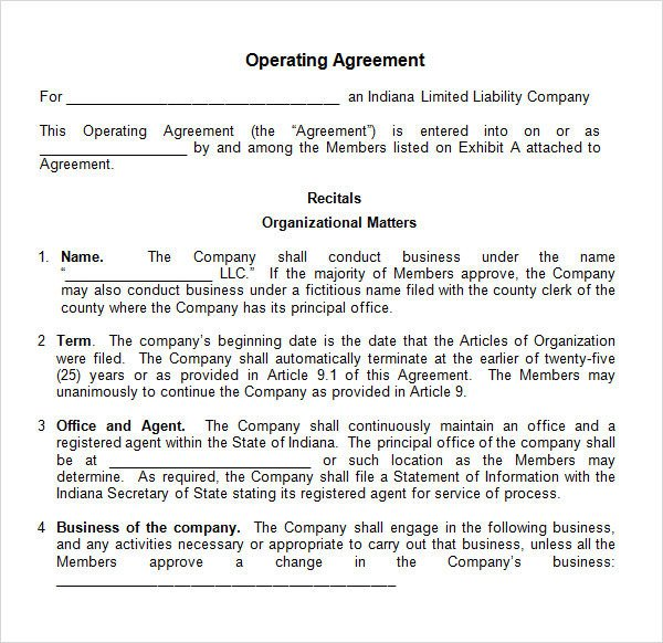Corporation Operating Agreement Template Operating Agreement 11 Free Pdf Google Doc Apple