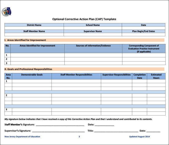Corrective Action form Template Corrective Action Template Excel 0 – Guatemalago