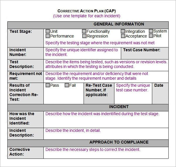 Corrective Action Plan Template Sample Action Plan Template 15 Free Documents In Pdf