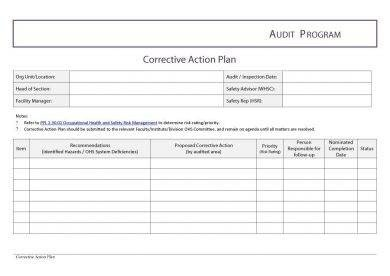 Corrective Action Plan Template Word 12 Employee Corrective Action Plan Examples Pdf Word