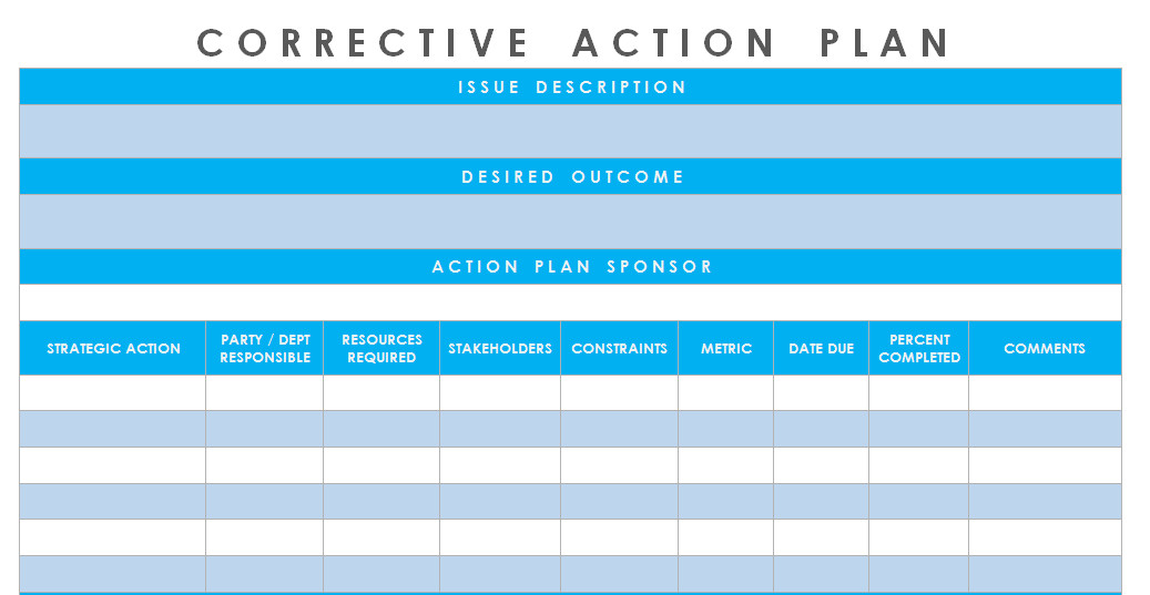Corrective Action Plan Template Word Get Corrective Action Plan Template Excel Microsoft