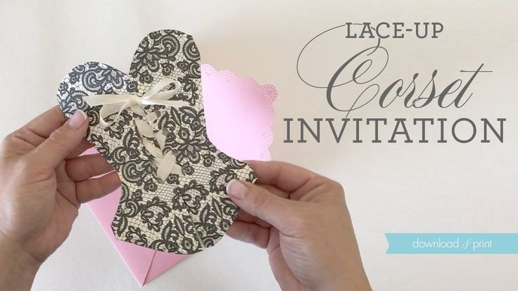 Corset Invitation Template Free 25 Best Ideas About Corset Invitations On Pinterest