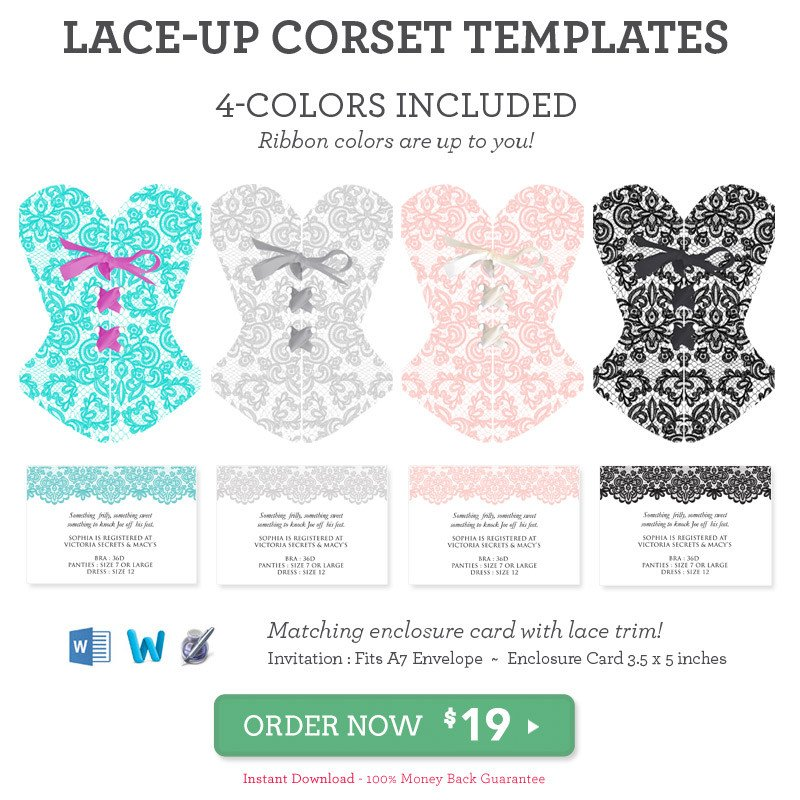 Corset Invitation Template Free Diy Lace Up Corset Invitation