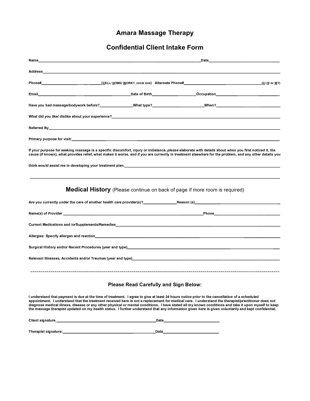 Counseling Intake form Template Body Intake form Clipart Clipart Suggest