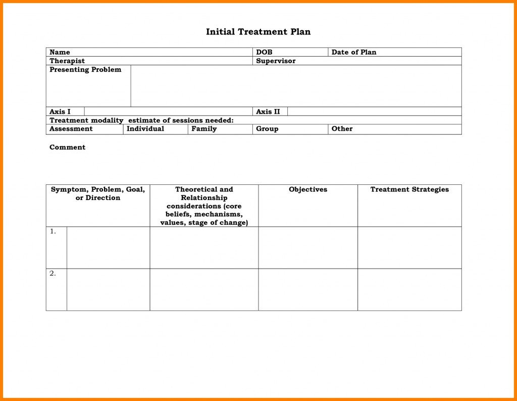 Counseling Treatment Plan Template 019 Mental Health Treatment Plan Templateload Luxury Care