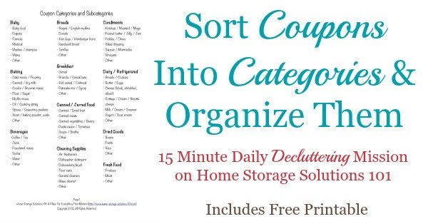 Coupon Binder Categories Template Coupon Categories and Subcategories for organizing Coupons