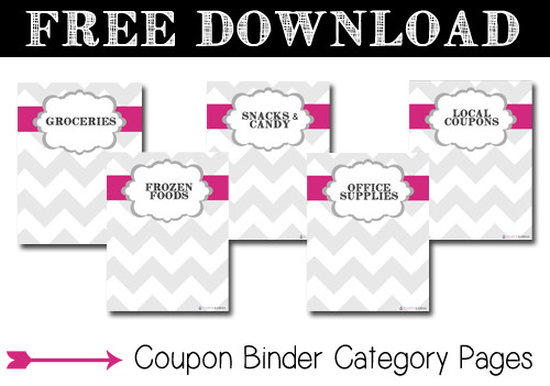 Coupon Binder Categories Template Download Free Coupon Binder Category Pages