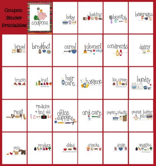 Coupon Binder Categories Template Printable Coupon Binder Free Printables – Tip Junkie