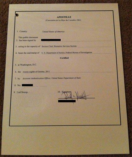 Cover Letter for Apostille Example Apostille Criminal Background Check