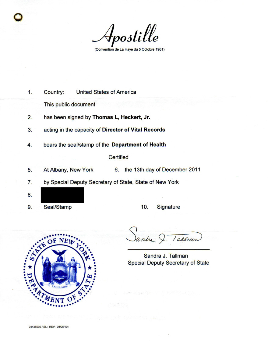 Cover Letter for Apostille Example December 2011 – Genealogy and Jure Sanguinis