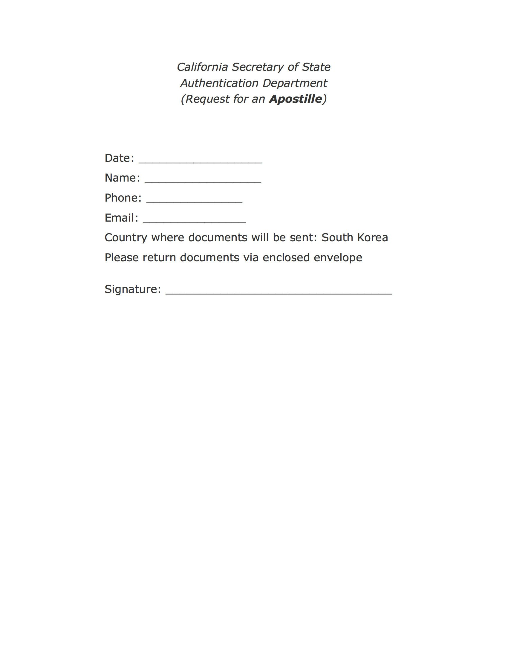 Cover Letter for Apostille Example Travelling Body & Seoul