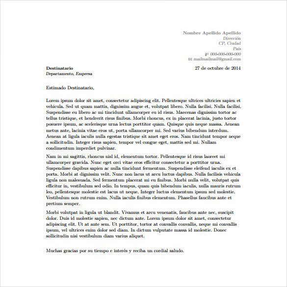 Cover Letter Template Latex 5 Latex Cover Letter Templates Free Sample Example