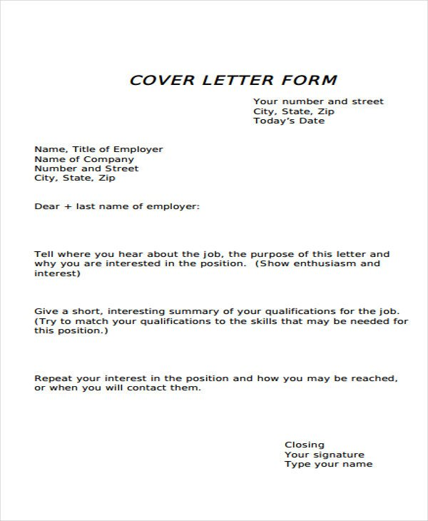 Cover Letter Template Pdf 34 Letter Templates In Pdf Free Pdf Documents Download