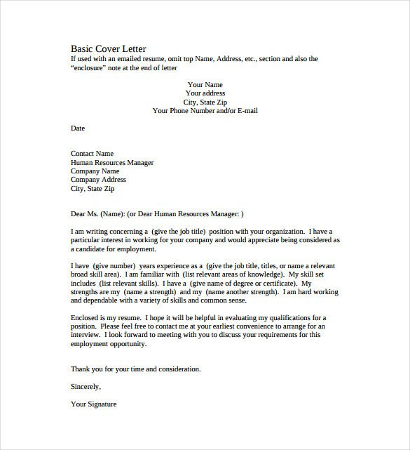 Cover Letter Template Pdf 51 Simple Cover Letter Templates Pdf Doc