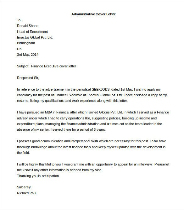 Cover Letter Template Pdf 55 Cover Letter Templates Pdf Ms Word Apple Pages