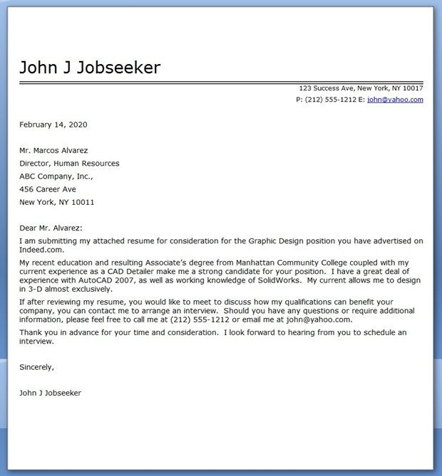 Cover Letter Template Pdf Design for Letter