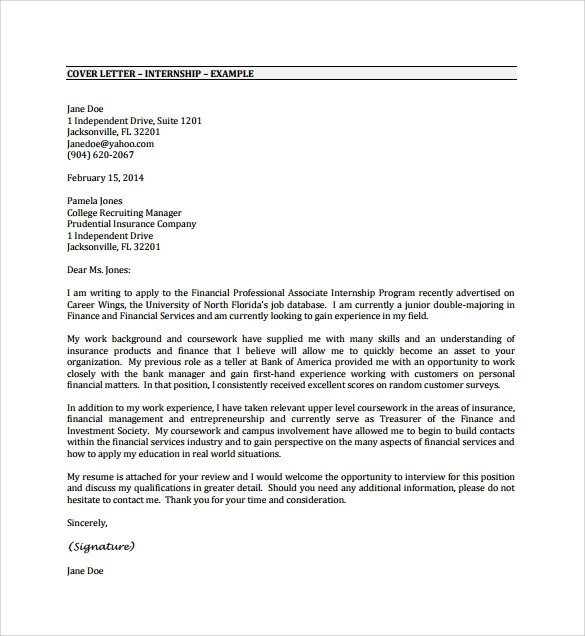 Cover Letter Template Pdf Sample Cover Letter Example 24 Download Free Documents