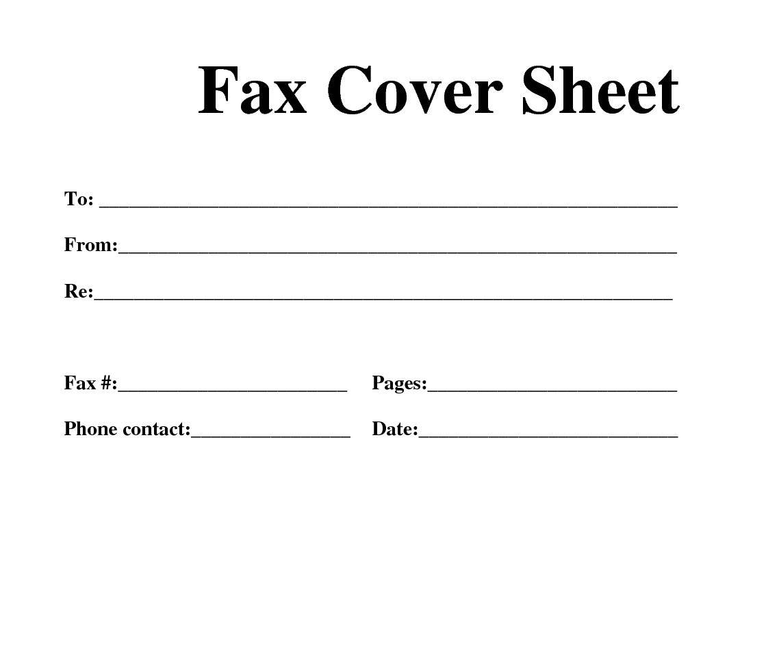 Cover Sheet Template Word Fax Cover Sheet Template Word