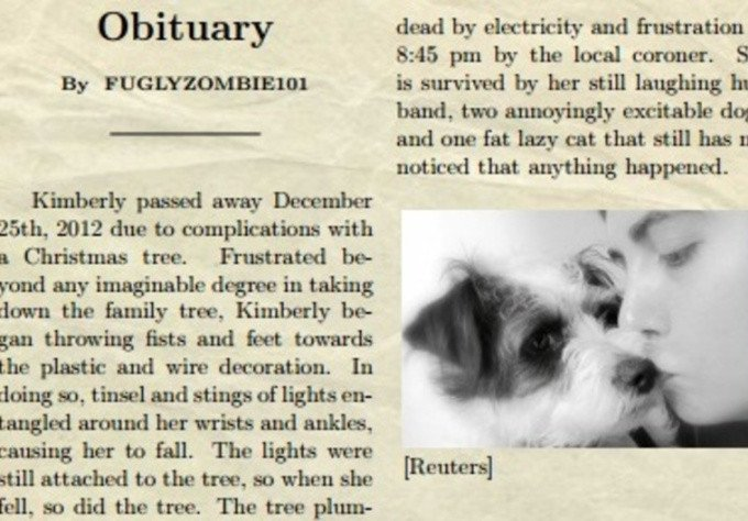 Create A Fake Obituary Create A Funny Fake Obituary for Any Person or Pet Fiverr