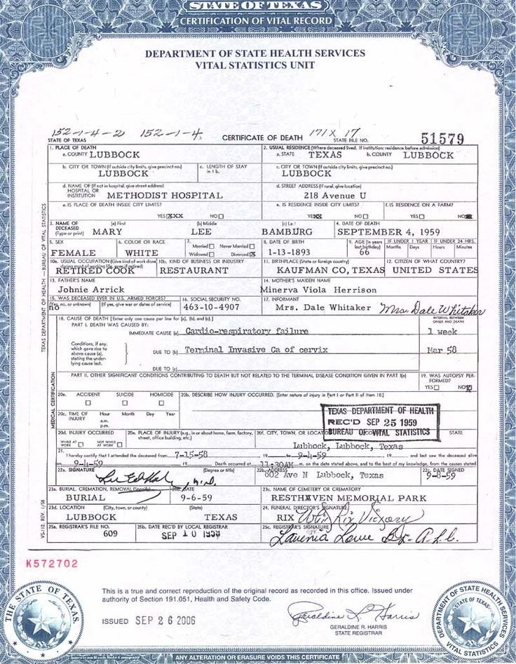 Create A Fake Obituary Death Certificate Certificate Templates and Death On