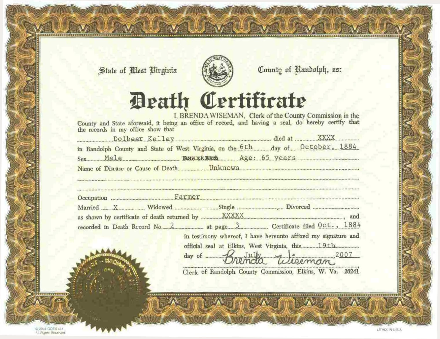 Create A Fake Obituary Death Certificate