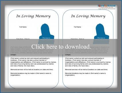 Create A Fake Obituary Free Obituary Templates