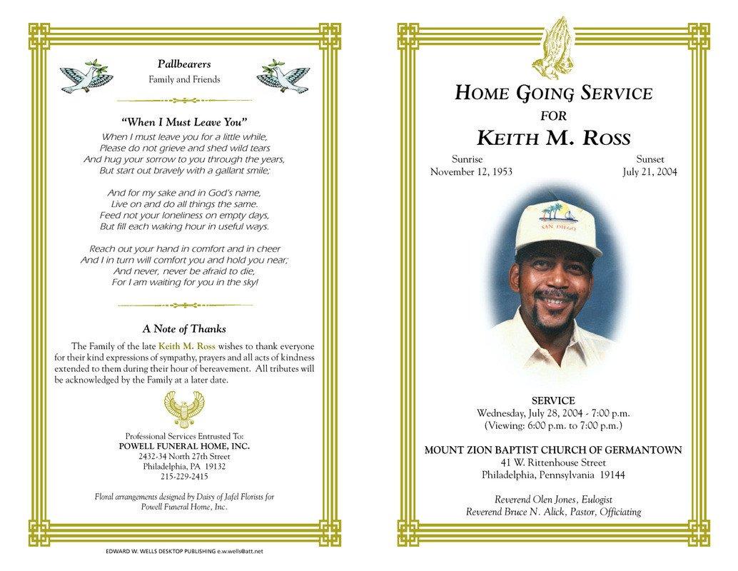 Create A Fake Obituary Funeral Program Quotes Quotesgram