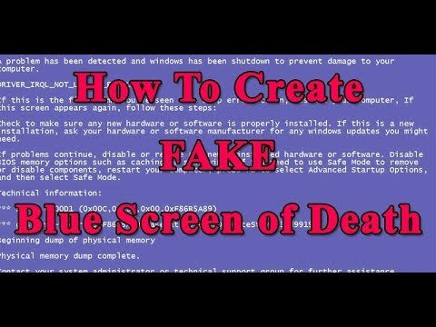 Create A Fake Obituary How to Create Fake Blue Screen Death Bsod