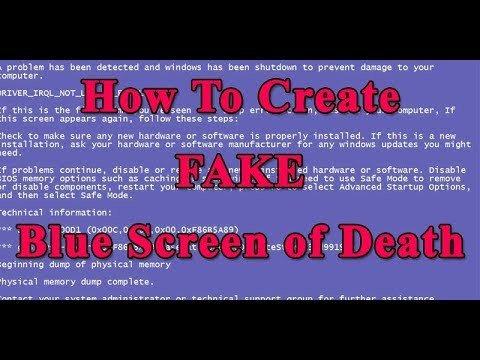 Create A Fake Obituary How to Create Fake Blue Screen Death Bsod