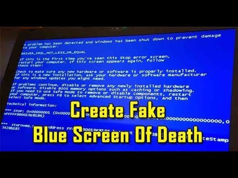 Create A Fake Obituary How to Create Fake Blue Screen Death In Windows