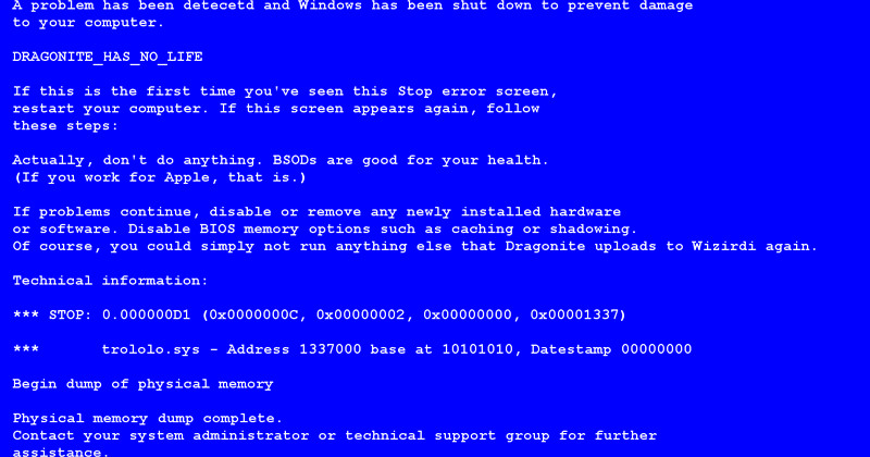 Create A Fake Obituary How to Create Fake Bsod Error In Windows Puter