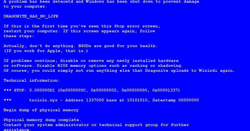Create A Fake Obituary How to Create Fake Bsod Error In Windows Puter