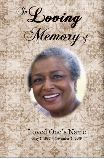 Create A Fake Obituary Single Fold Printable Obituary Template for Microsoft Word