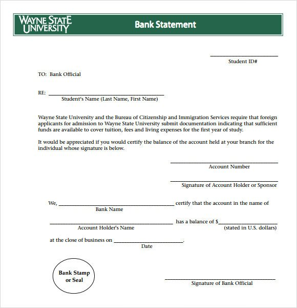 Create Fake Bank Statement Template Bank Statement 8 Free Samples Examples format